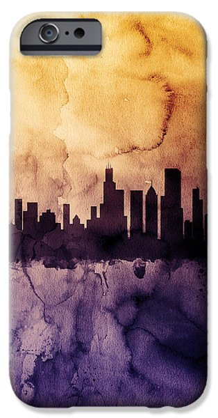 Sears Tower iPhone Cases - Chicago Illinois Skyline iPhone Case by Michael Tompsett
