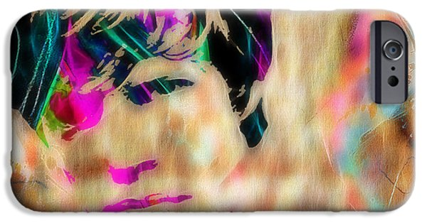 Rolling Stones iPhone Cases - Mick Jagger of The Rolling Stones1964 Painting iPhone Case by Marvin Blaine