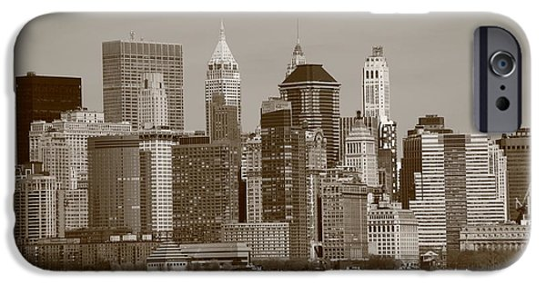 Business iPhone Cases - New York City Skyline iPhone Case by Frank Romeo