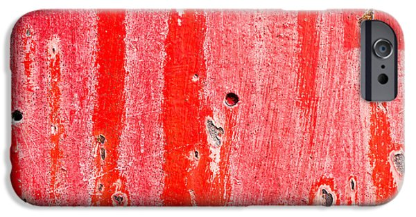Sheets iPhone Cases - Red metal iPhone Case by Tom Gowanlock