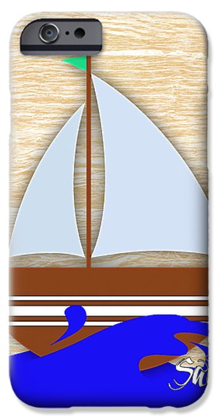 Water iPhone Cases - Sailing Collection iPhone Case by Marvin Blaine