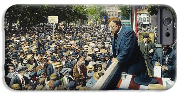 Canvassing iPhone Cases - Theodore Roosevelt iPhone Case by Granger