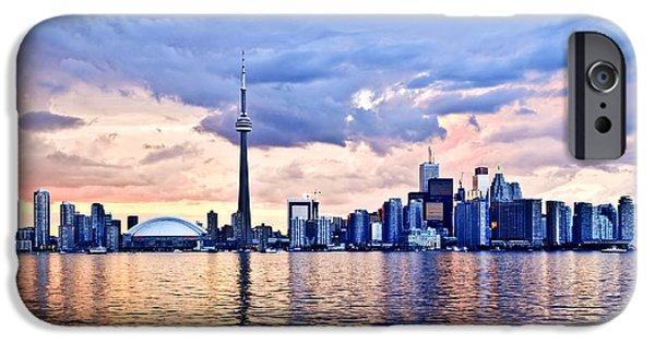 Metropolis iPhone Cases - Toronto skyline iPhone Case by Elena Elisseeva