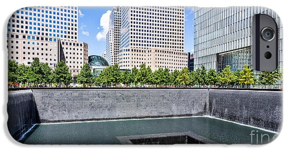 Twin Towers Nyc iPhone Cases - 911 Memorial - panorama iPhone Case by John Waclo