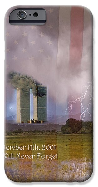 James Bo Insogna iPhone Cases - 911 We Will Never Forget iPhone Case by James BO  Insogna
