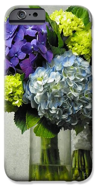 Nature Study iPhone Cases - #935 D1002 Fascinating Bouquet of Hydrangea Blooms iPhone Case by Robin Lee Mccarthy Photography
