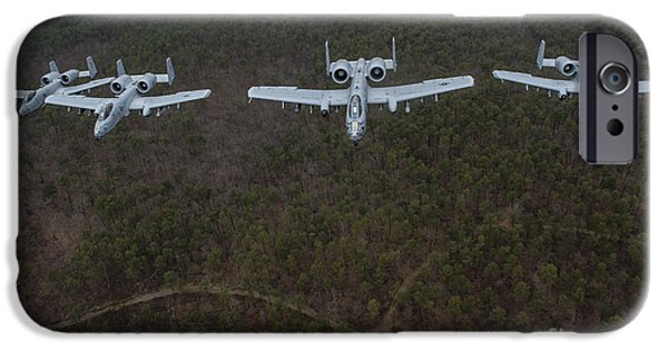 Arkansas iPhone Cases - A-10 Thunderbolt Iis Flying iPhone Case by Stocktrek Images