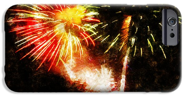 4th July Paintings iPhone Cases - A 4TH Celebration  iPhone Case by Adam Vance