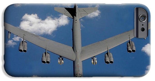 Iraq iPhone Cases - A B-52 Stratofortress iPhone Case by Stocktrek Images