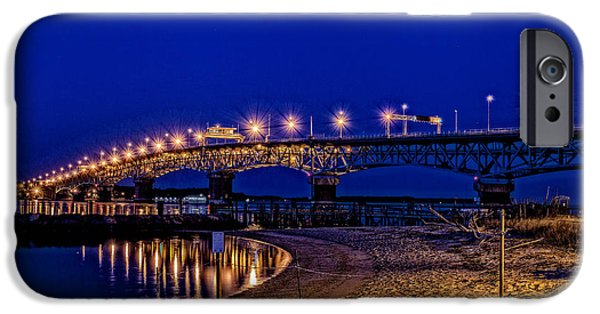 Yorktown iPhone Cases - A Beautiful Night at the Coleman iPhone Case by George Hunt Jr