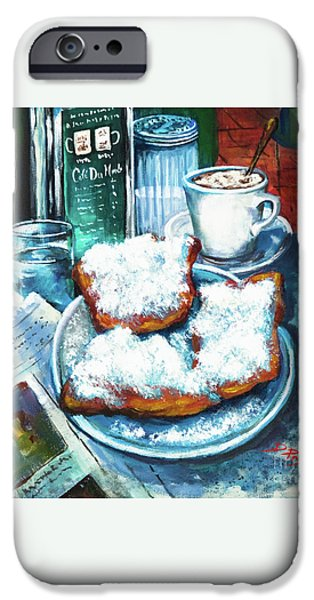 A Beignet Morning iPhone Case by Dianne Parks