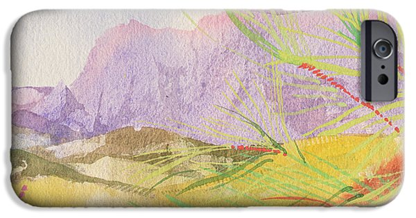 Meadow Drawings iPhone Cases - A Berlou iPhone Case by Simon Fletcher
