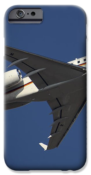 A Bombardier Global 5000 Vip Jet iPhone Case by Timm Ziegenthaler