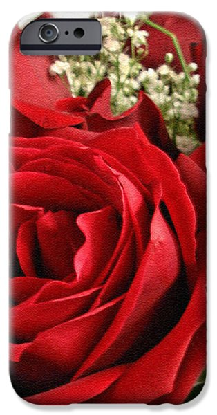 A Bouquet of Red Roses iPhone Case by Sue Melvin