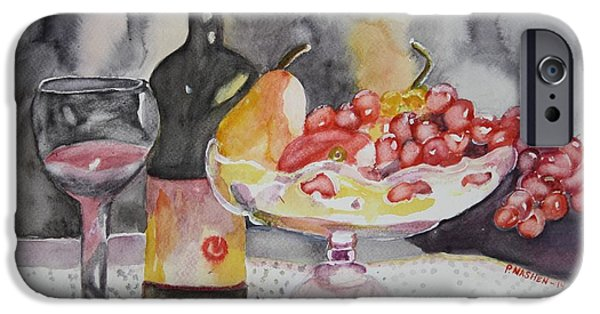 Wine Bottles iPhone Cases - A bowl of cherries iPhone Case by Phyllis Nashen