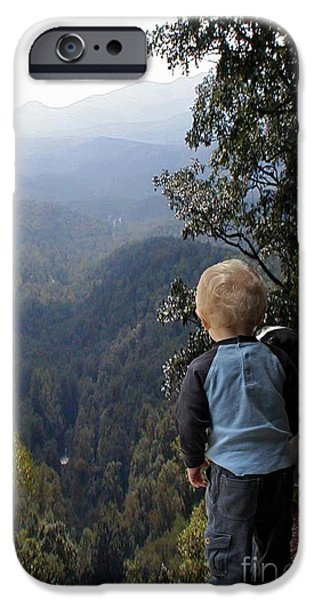 Red Carpet iPhone Cases - A Boy and His Dog iPhone Case by Robert Meanor