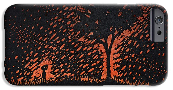 Rain Reliefs iPhone Cases - A Boy and His Tree iPhone Case by Austin Howlett