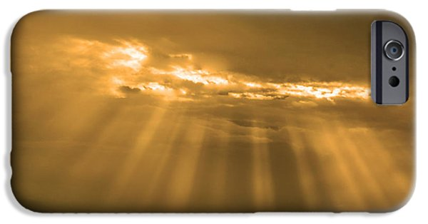 Clouds Tapestries - Textiles iPhone Cases - A break iPhone Case by James Hennis