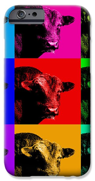 A Bunch of Bull iPhone Case by Wingsdomain Art and Photography