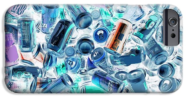 Blue Abstracts iPhone Cases - A Can Thing iPhone Case by Joe Jake Pratt