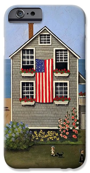 4th July Paintings iPhone Cases - A Cape Cod 4th iPhone Case by Timothy Campbell