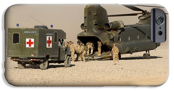 Ambulance iPhone Cases - A Ch-47 Chinook Helicopter Drops iPhone Case by Andrew Chittock