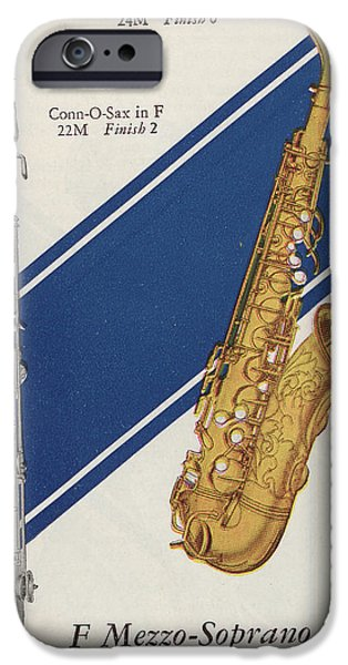 Soprano iPhone Cases - A Charles Gerard Conn F Mezzo-Soprano iPhone Case by American School