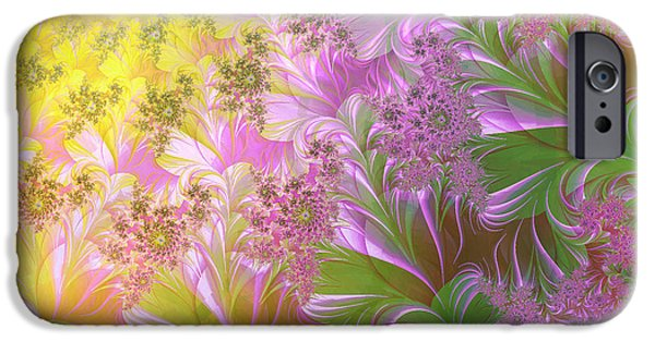 Fractal Paintings iPhone Cases - A Childs View iPhone Case by Mindy Sommers