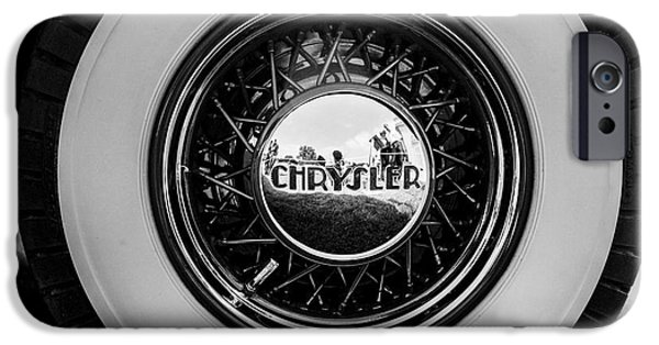 Vintage Car Pyrography iPhone Cases - A Chrysler from a Vintage Cars collection.  iPhone Case by Cyril Jayant