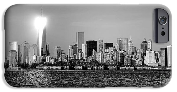 Hudson River iPhone Cases - A City Reborn  iPhone Case by Olivier Le Queinec