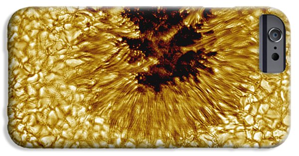 Magnification iPhone Cases - A Close-up Of A Sunspot iPhone Case by Stocktrek Images