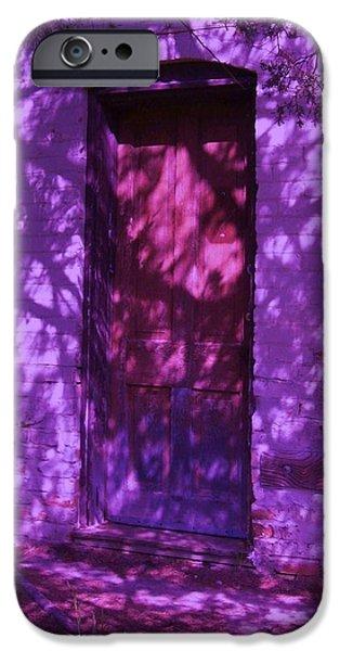 Eerie iPhone Cases - A Closed Door Beckens iPhone Case by Ruth Koob