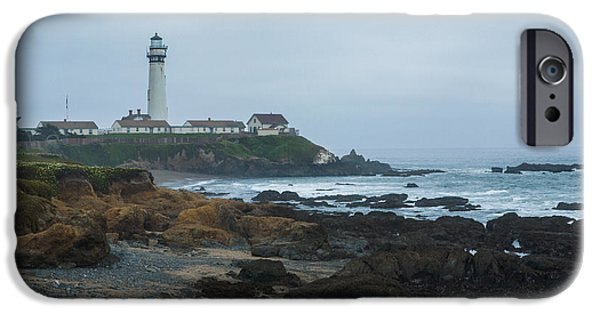 Alga iPhone Cases - A Cloudy Day at Pigeon Point iPhone Case by Bryant Coffey