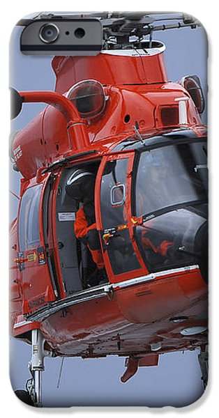 A Coast Guard Mh-65 Dolphin Helicopter iPhone Case by Stocktrek Images