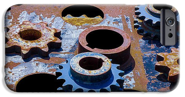 Machinery iPhone Cases - A Cog In The Machine iPhone Case by Michael King
