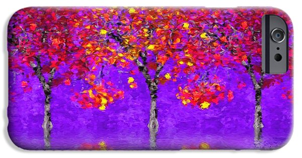 Rainy Day iPhone Cases - A Colorful Autumn Rainy Day iPhone Case by Gabriella Weninger - David