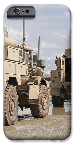A Convoy Of Mrap Vehicles Near Camp iPhone Case by Stocktrek Images