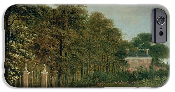 Country iPhone Cases - A Country House iPhone Case by J Hackaert