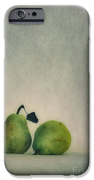 Pear iPhone Cases - A couple of pears iPhone Case by Priska Wettstein