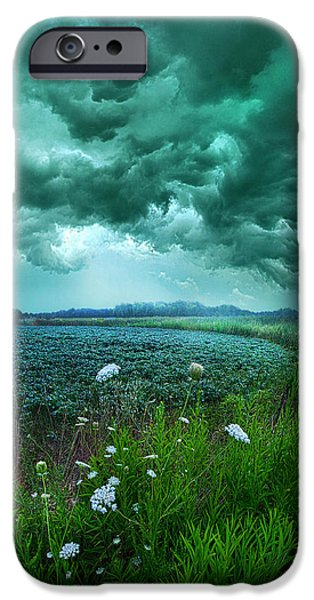 Summer Storm iPhone Cases - A Dark Day iPhone Case by Phil Koch