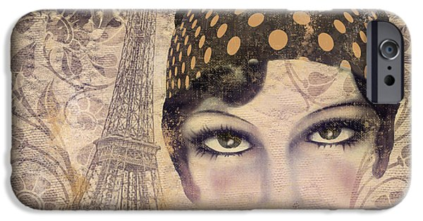 Beautiful Faces iPhone Cases - A Date with Paris iPhone Case by Mindy Sommers