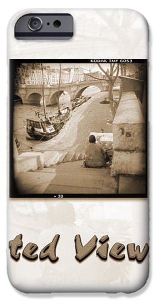 A DISTORTED VIEW OF PARIS iPhone Case by Mike McGlothlen