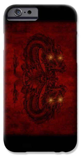 Animation iPhone Cases - A Dragons Hiss iPhone Case by Majula Warmoth