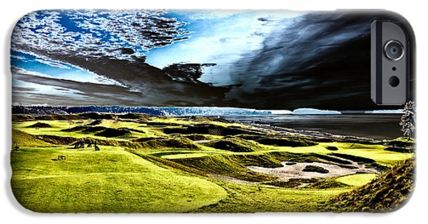 Us Open Photographs iPhone Cases - A Dramatic View on Hole 15 - Chambers Bay iPhone Case by David Patterson
