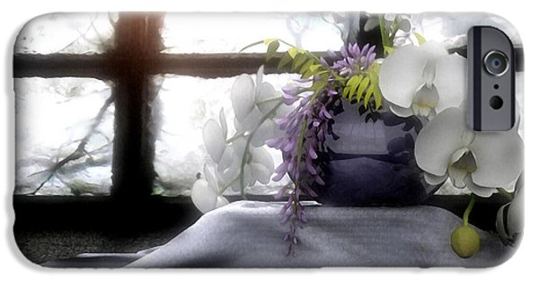 Phalaenopsis iPhone Cases - A Dream of Orchids iPhone Case by Cynthia Decker