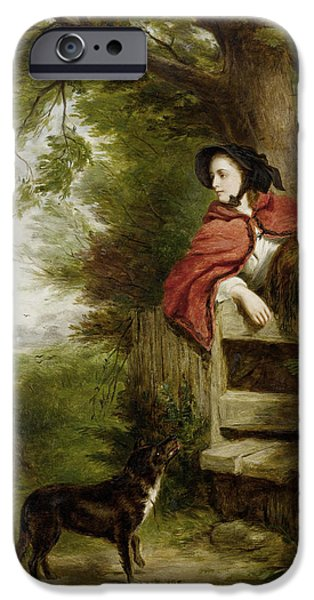 Puppy Digital Art iPhone Cases - A Dream Of The Future iPhone Case by William Powell Frith