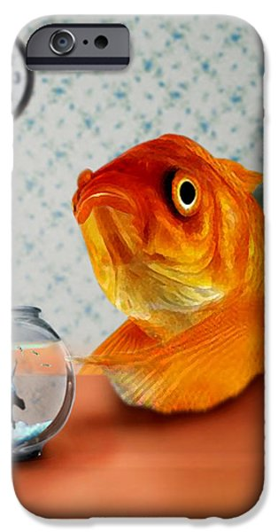 A Fish Out Of Water iPhone Case by Carrie Jackson