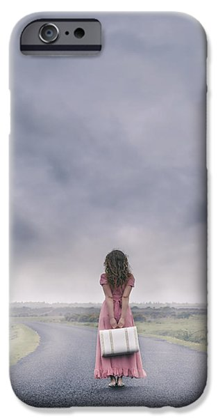 Asphalt iPhone Cases - A Foggy Morning iPhone Case by Joana Kruse