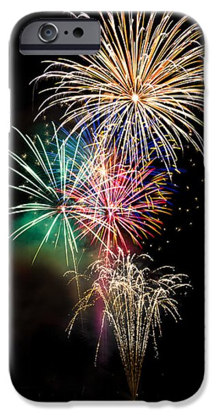 Fourth Of July iPhone Cases - A Fourth of July Bouquet  iPhone Case by Saija  Lehtonen