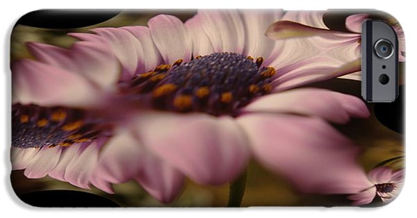 Abstract Digital Photographs iPhone Cases - A Fractual Flower iPhone Case by Jeff  Swan